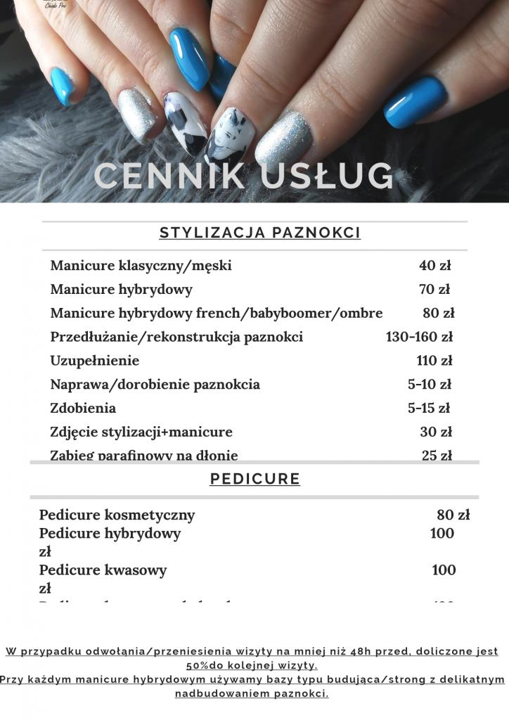 Hybryda Piaseczno - cennik